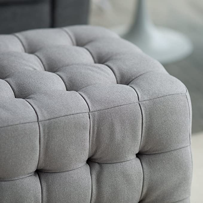 Amazon.com: belham Living Allover Tufted rectángulo Otomano ...