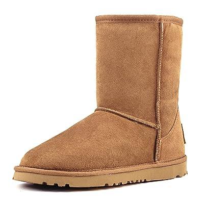AUSLAND Women's Waterproof Snow Boot, Mid-Calf Sheepskin Winter Shoe 9125 | Snow Boots