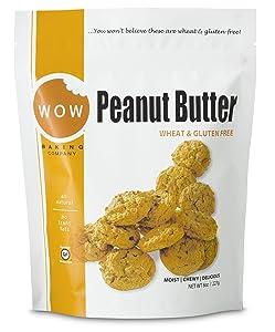 WOW Baking Company Gluten Free Cookies, Peanut Butter, 8 oz