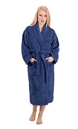 10ee66c22ab76 Luxury Terry Cloth Hotel Bathrobe - Premium 100% Turkish Cotton Robe Unisex  (Small,