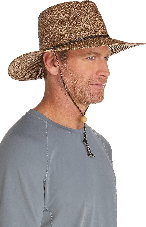 dfd9d2eae6c939 Coolibar UPF 50+ Men's Beach Comber Sun Hat - Sun Protective at Amazon  Men's Clothing store: