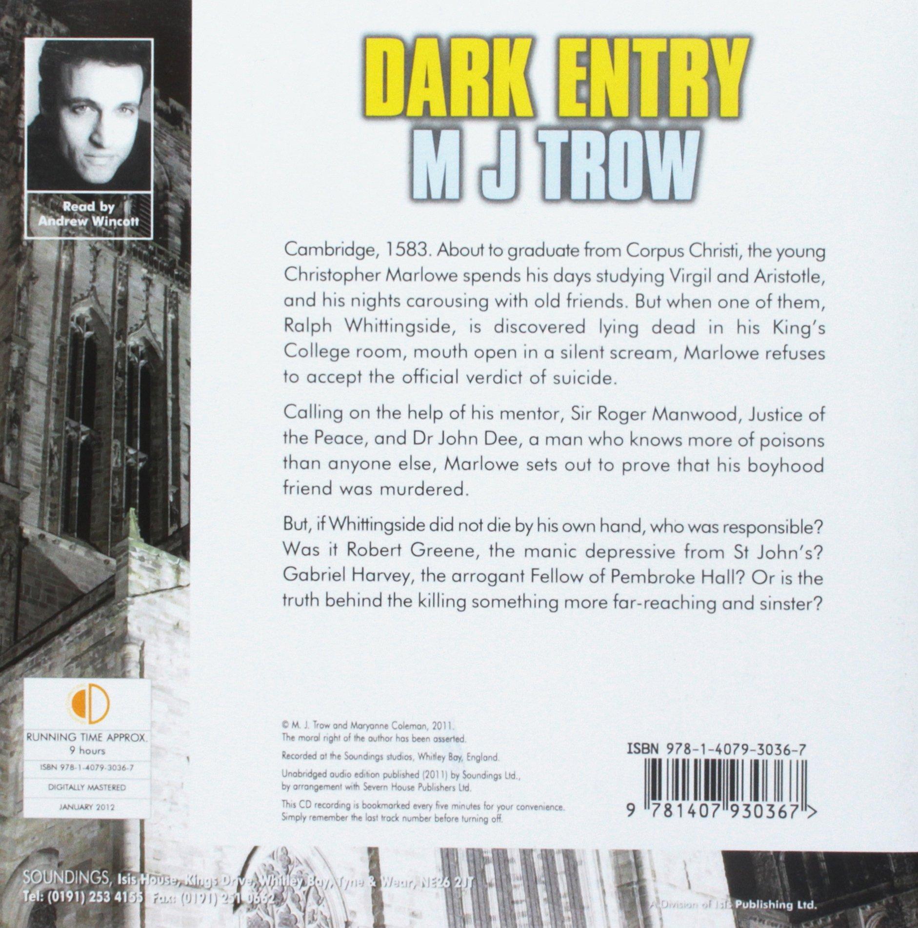 Dark Entry: Mj Trow, Andrew Wincott: 9781407930367: Amazon: Books