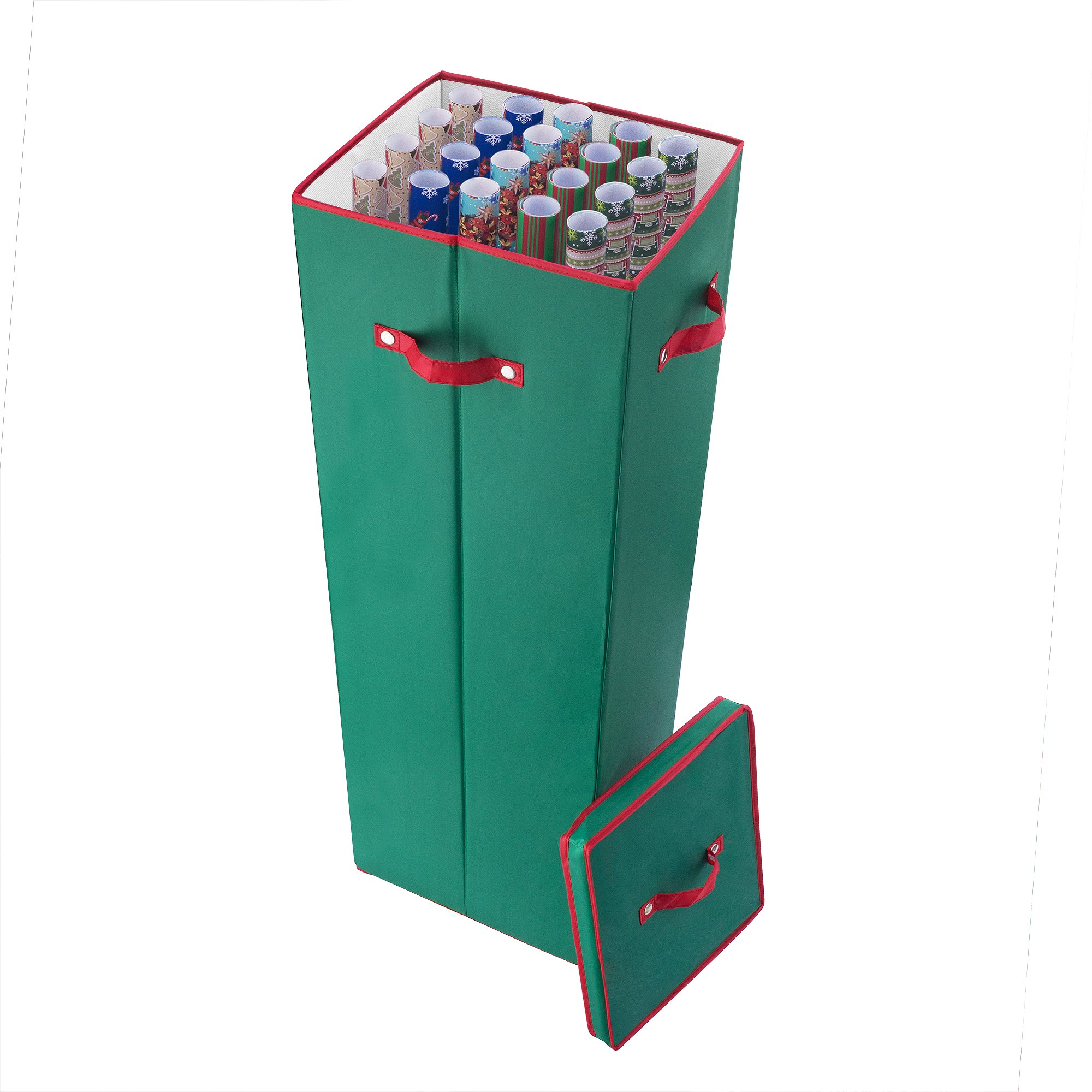 Elf Stor 40 in. Tall Wrapping Paper Storage Box in Green