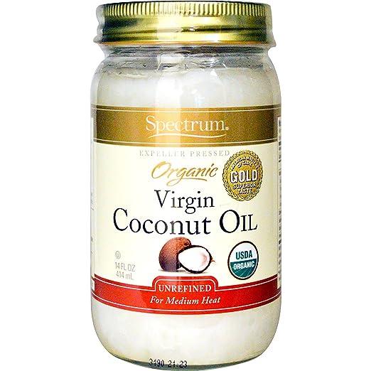 Spectrum Organic Coconut Oil, Unrefined, 14 oz