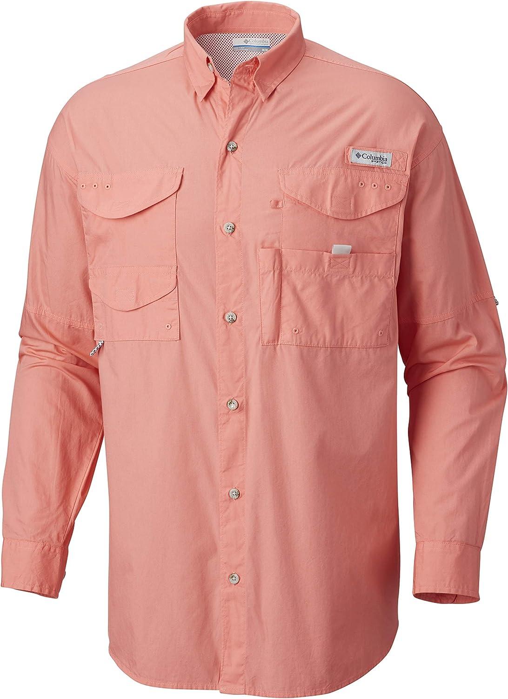 Columbia Mens Bonehead Long Sleeve Shirt, Salmon, Medium: Amazon.es: Ropa y accesorios