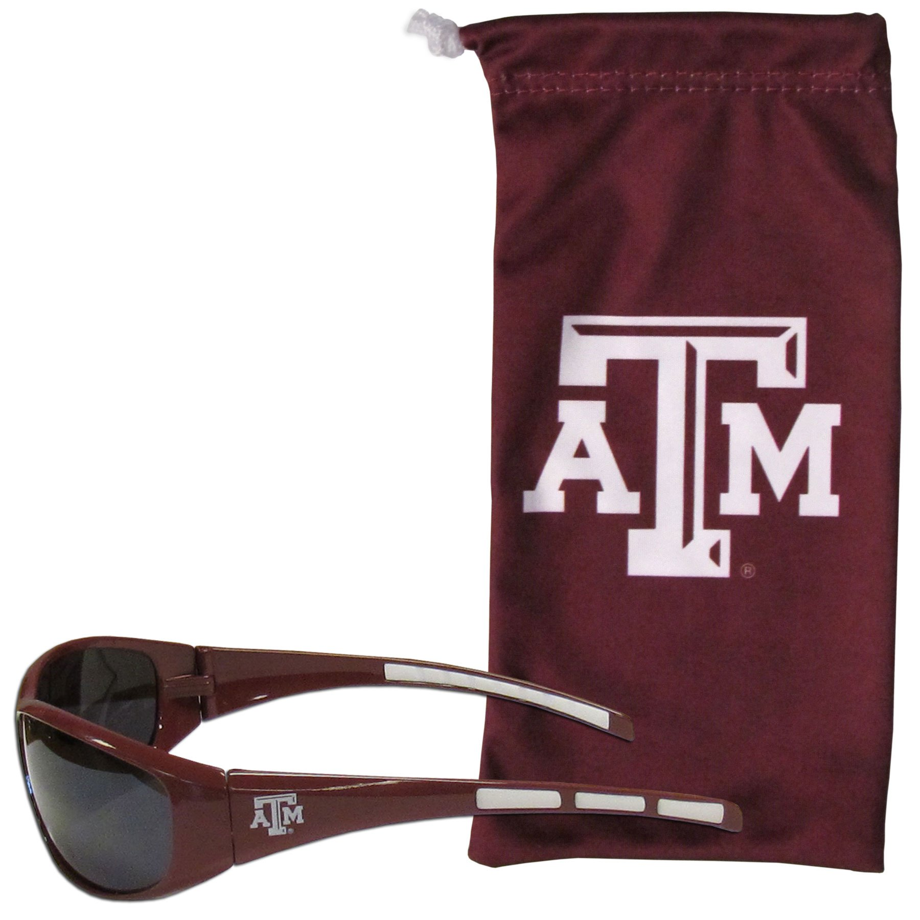 Siskiyou NCAA Texas A&M Aggies Adult Sunglass and Bag Set, Red