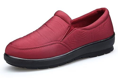 KOUDYEN Mujer Casual Zapatos Auténtico Mocasines Calzado Planos Impermeable: Amazon.es: Zapatos y complementos