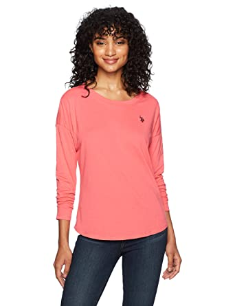 5dfcfd5ab54 US Polo Assn Women s Long Sleeve Fashion T-Shirt at Amazon Women s Clothing  store