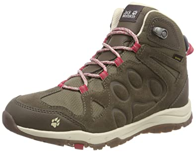 lace up in thoughts on various styles Jack Wolfskin Damen Rocksand Texapore Mid W Trekking- & Wanderstiefel