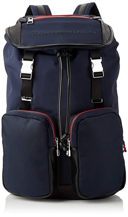 Tommy Hilfiger - Urban Novelty Flap Backpack, Mochilas Hombre, Azul (Tommy Navy/