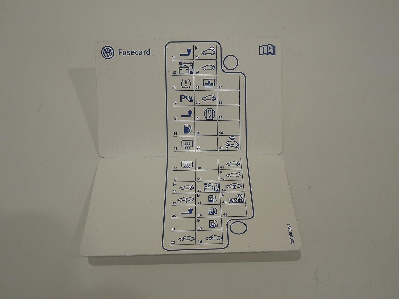 VW Phaeton D1 Fuse Box Card, Automotive - Amazon CanadaAmazon.ca