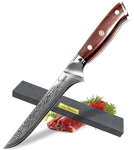 Amazon.com: KOLLOMBO - Cuchillo de deshuesar, acero ...
