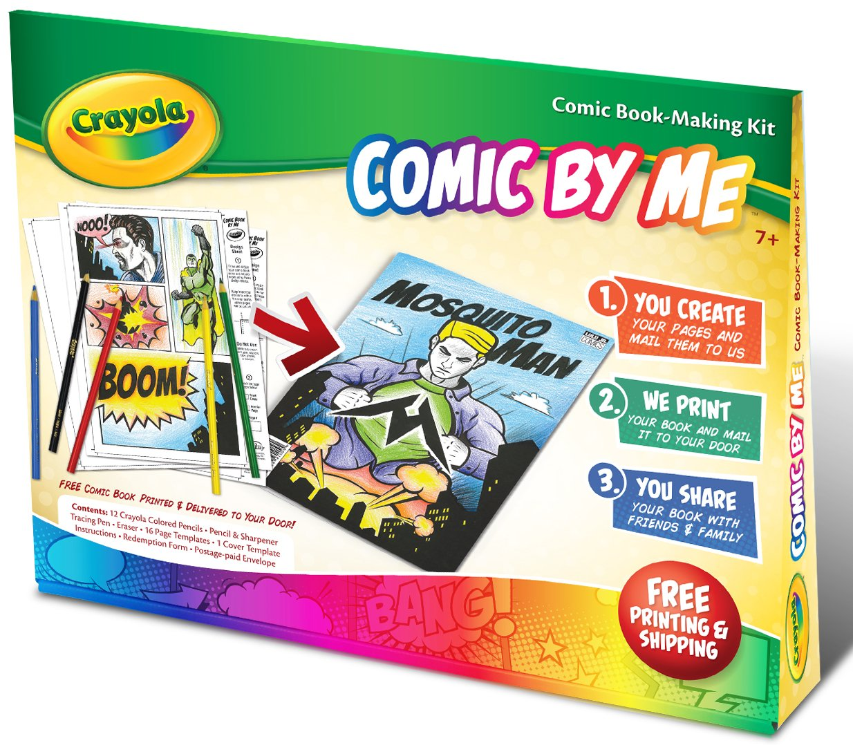 Amazon Crayola Comic By Me Kit Toys Games