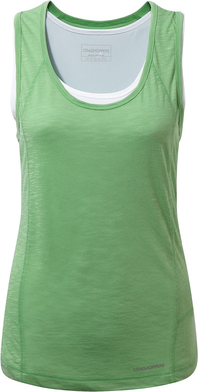 Craghoppers Pro Lite Womens Vest Tank Top Green UK 18 20 22