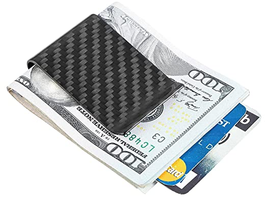 Travelambo carbon fiber money clip front pocket wallet minimalist travelambo carbon fiber money clip front pocket wallet minimalist wallet slim wallet credit business card holder colourmoves