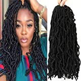 14 inch Nu Faux Locs Crochet Hair Soft Locs 1b Goddess Locs Crochet Braids for Black Women 100% Premium Fiber Synthetic…