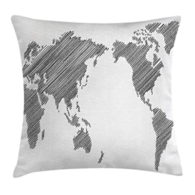 2pcs outdoor furniture cushion world map  accent cushion cover