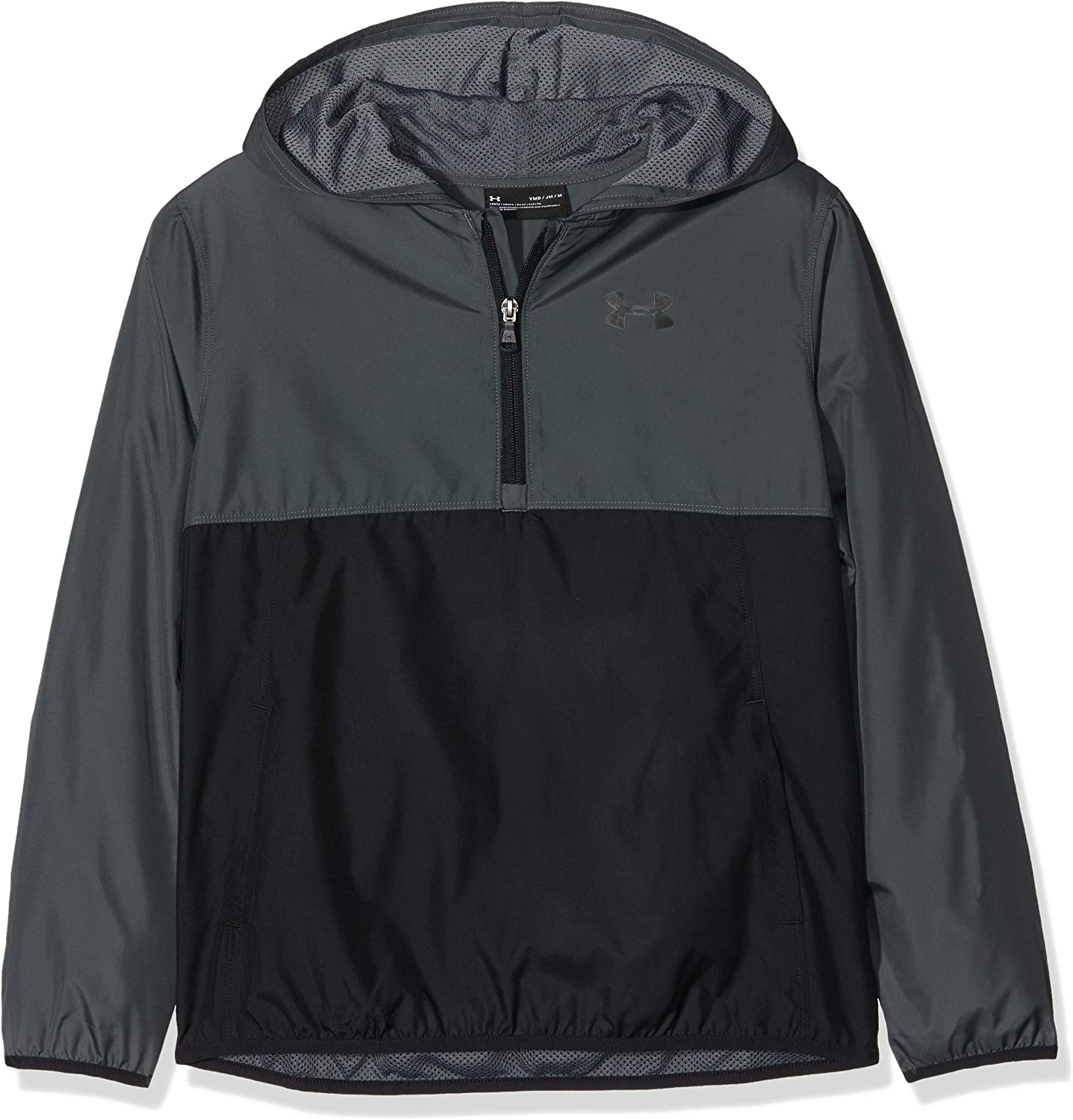 Under Armour Packable 1//2 Zip Jacket Youth Pitch Gray////Black