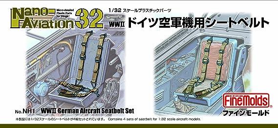 Cinturones de seguridad en la aviacioen 1/32 nano Segunda Guerra Mundial Fuerza Aerea Alemana: Amazon.es: Juguetes y juegos