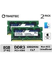 Timetec Hynix IC Apple 8GB Kit (2x4GB) DDR3 PC3-8500 1066MHz Memory Upgrade for iMac 21.5 inch/27 inch/20 inch/24 inch