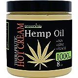 GreenIVe Hemp Hot Cream Soothing Moisturizing Hemp Hot Cream Exclusively on Amazon (1,000mg Jar)