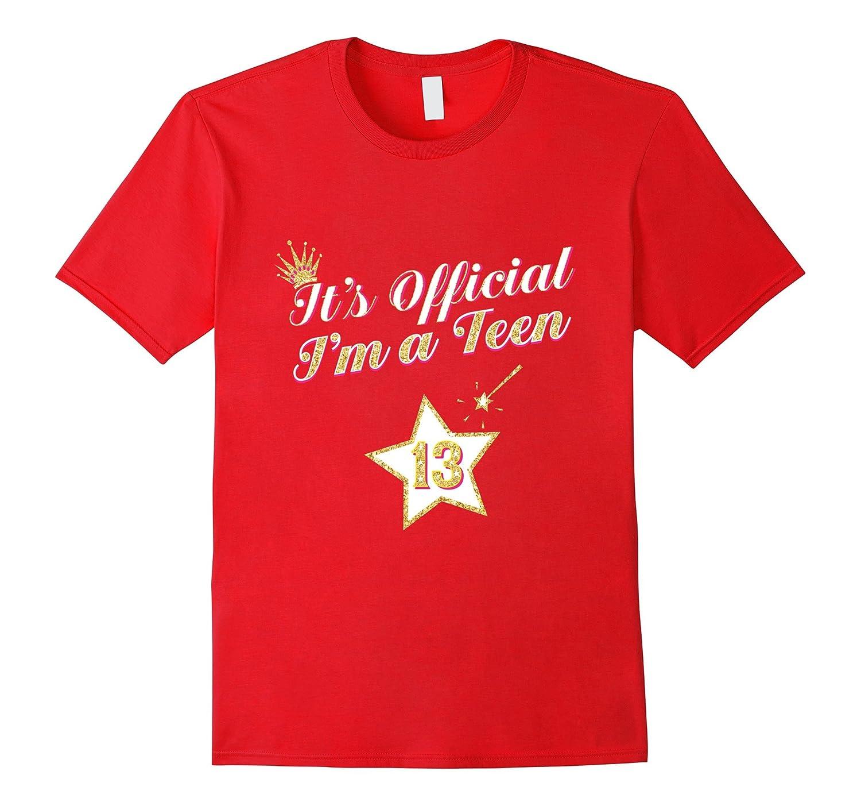 White Gold Star Birthday Shirt For Girls 13 Gift-CD