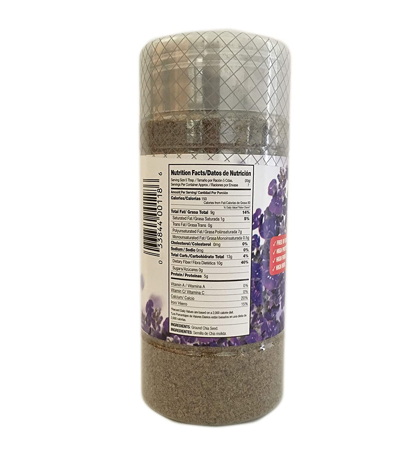 Amazon.com : 7 oz-Ground Chia Seed Powder Fiber/Salvia en ...