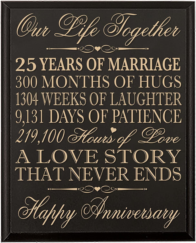Ywhl 25 Year Marriage 25th Wedding Anniversary Crystal Paperweight Keepsake Gifts