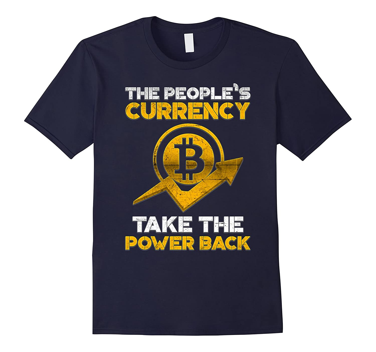 Bitcoin Peoples Currency TShirt Logo 2017 Crypto Currency-TJ