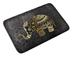 goldwheat Doormat Floor Mat Non-Slip Indoor Mat Pad Welcome Entrance Rug for Home,Kitchen,Bedroom,Bathroom-Elephant