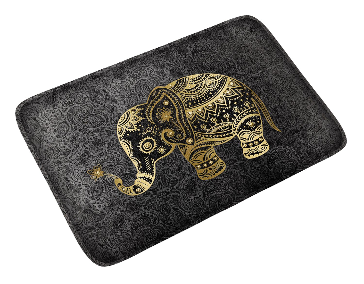Goldwheat Doormat Floor Mat Non-slip Indoor Mat Pad Welcome Entrance Rug for Home,Kitchen,Bedroom,Bathroom-Elephant
