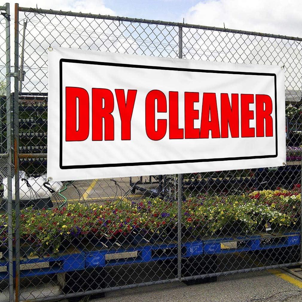 Vinyl Banner Sign Dry Cleaner Business Dry Cleaner Marketing Advertising White