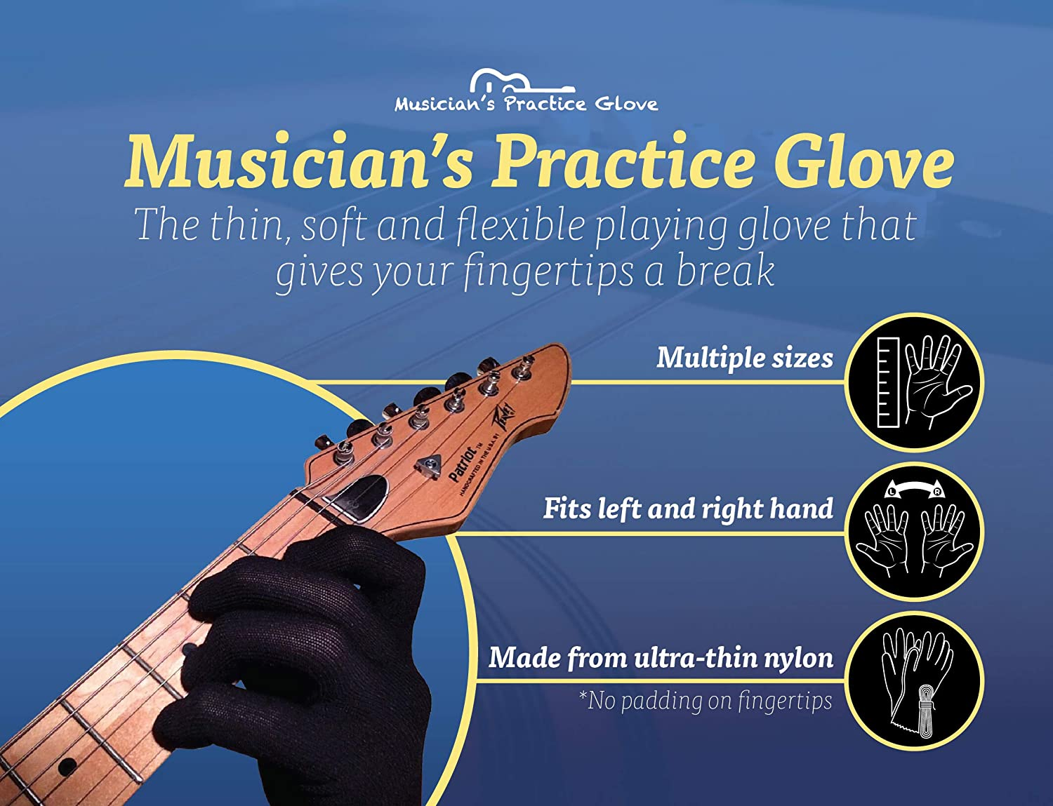 Blisters Sore Fingertips Continue Guitar Practice with Cuts S- Includes 1 Guitar Glove Perfect for Professional and Beginner Musicians Guitar Glove for Fingertips by Musician Practice Glove