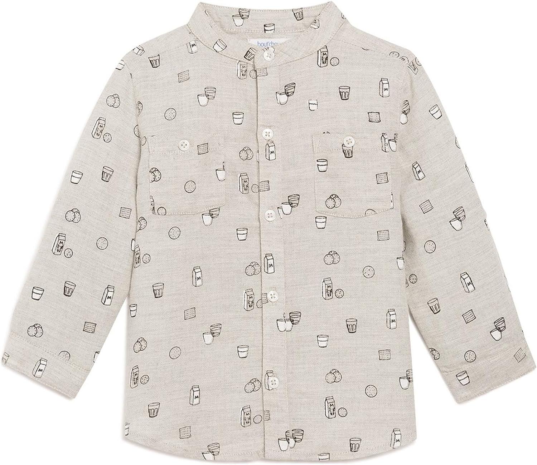BoutChou - Camisa - Negocios - Cuello Mao - para bebé niño Gris Claro 3 años: Amazon.es: Ropa y accesorios