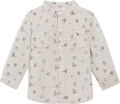 BoutChou - Camisa - Negocios - Cuello Mao - para bebé niño ...