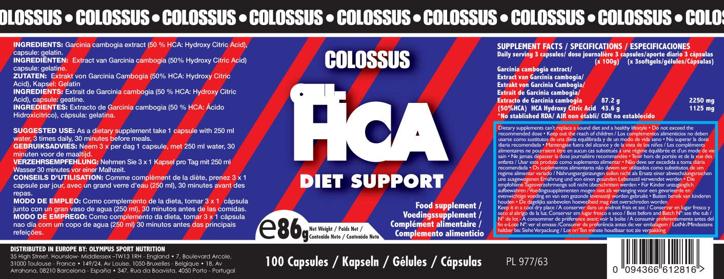 Colossus CELL-HCA - 600mg - 100 cáps.: Amazon.es: Salud y ...