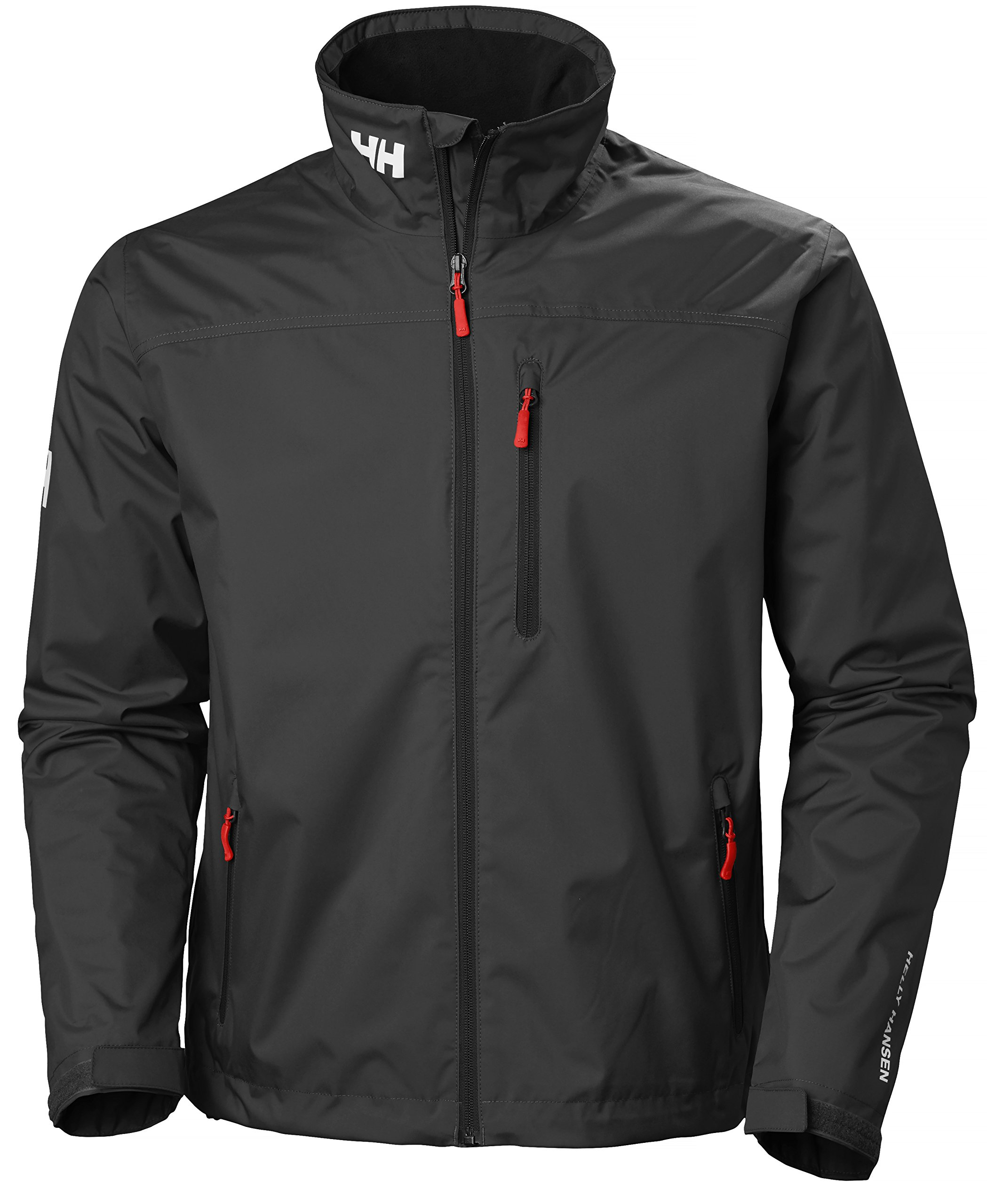 Helly Hansen Men's Crew Midlayer Fleece Lined Waterproof Windproof Breathable Rain Coat Jacket, 990 Black, X-Large by Helly Hansen