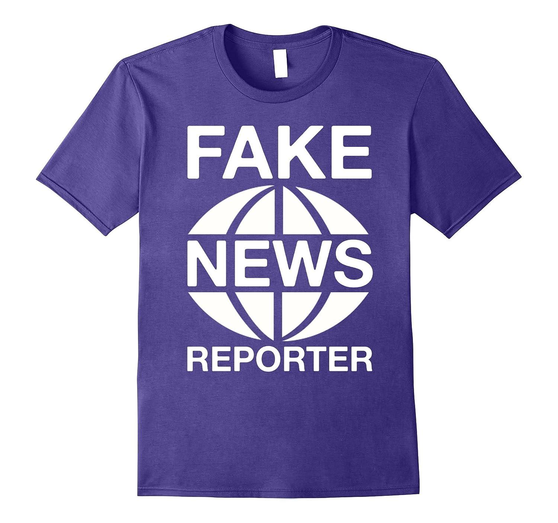 Fake News Reporter Funny Costume T Shirt-ANZ