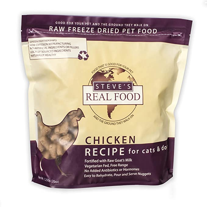 Amazon.com: Steves Real Food Freeze-Dried Raw Nuggets 1.25 ...