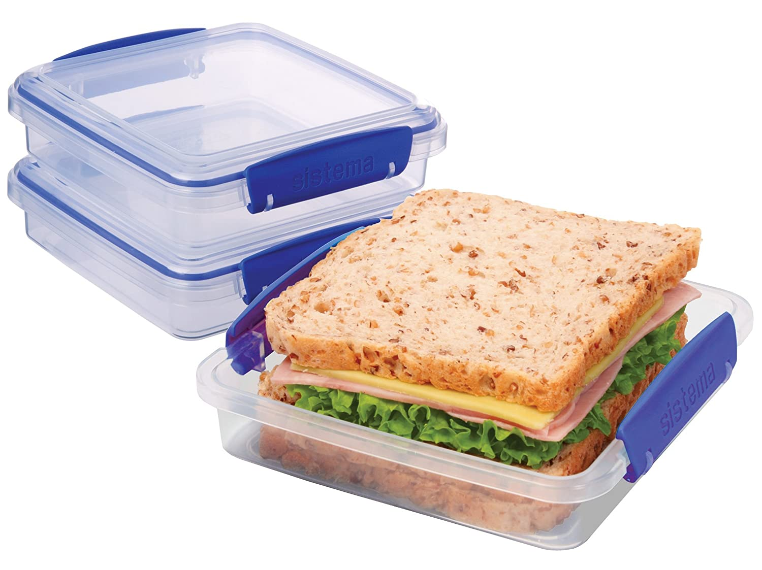 This is an image of a sandwich in a box