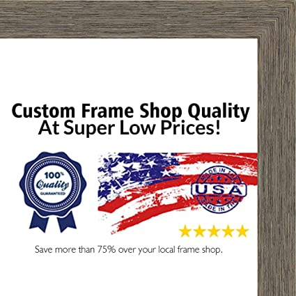 Amazon.com - 13.5x40 Rustic Color Wood Picture Panoramic Frame - UV ...