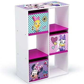 Delta Children 6 Cubby Storage Unit Disney Minnie Mouse