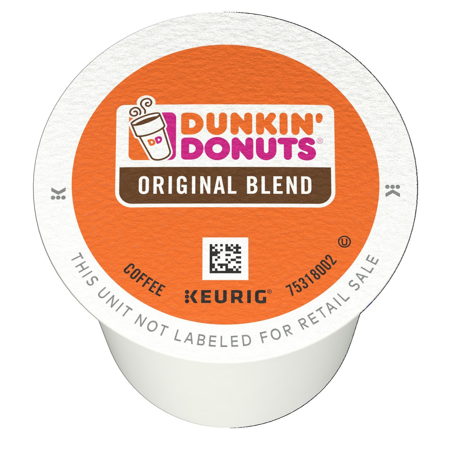 Dunkin' Donuts Original Blend K-Cup Pods for Keurig Brewers, Medium Roast, 128 Count
