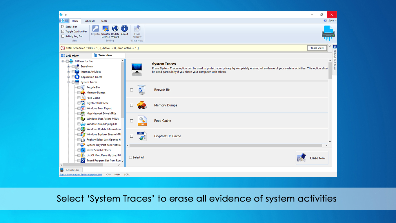 Stellar BitRaser for File Software | for Windows | Standard | Erase File &  Folders Permanently | 1 Device, 1 Yr Subscription | Instant Download (Email