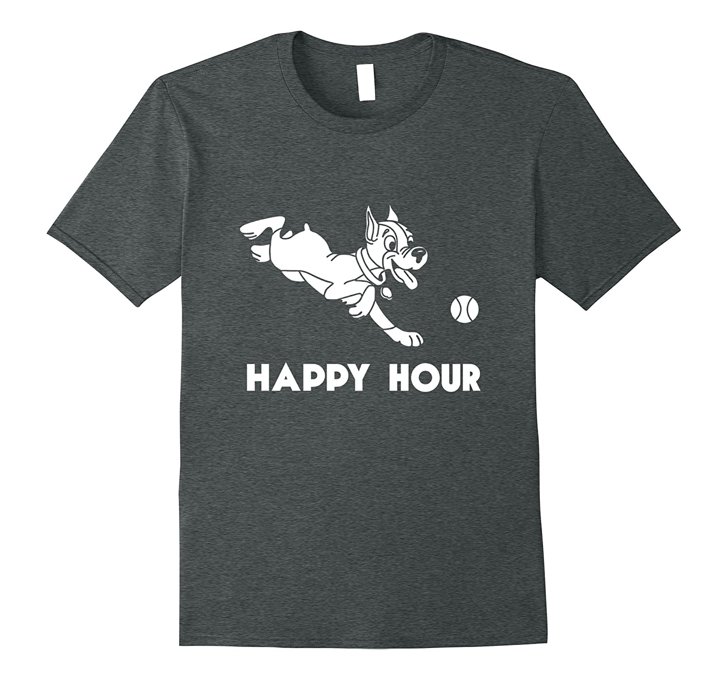 Happy Hour Funny Dog Park T-Shirt for Pet Lovers-Vaci