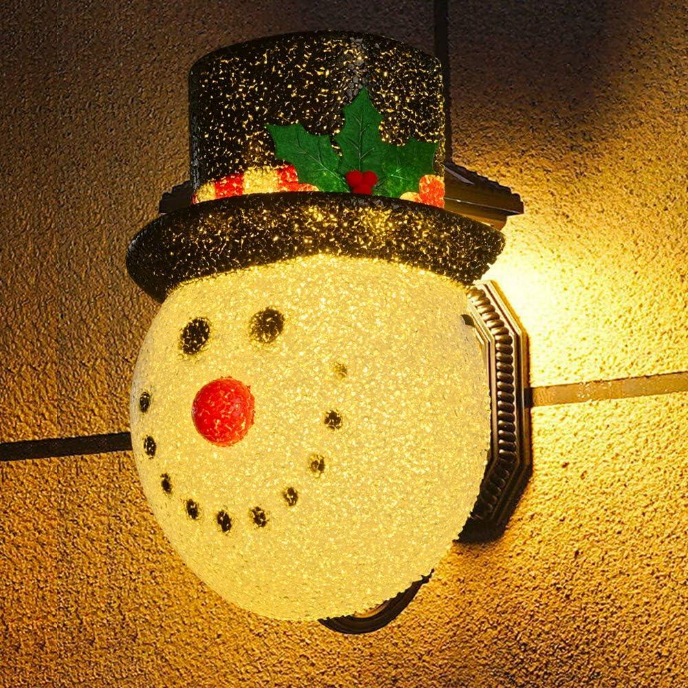 XADP Christmas Decorations Snowman Porch Light Cover Outdoor Porch Light Décor Fits Standard Outdoor Lighting,1 Piece