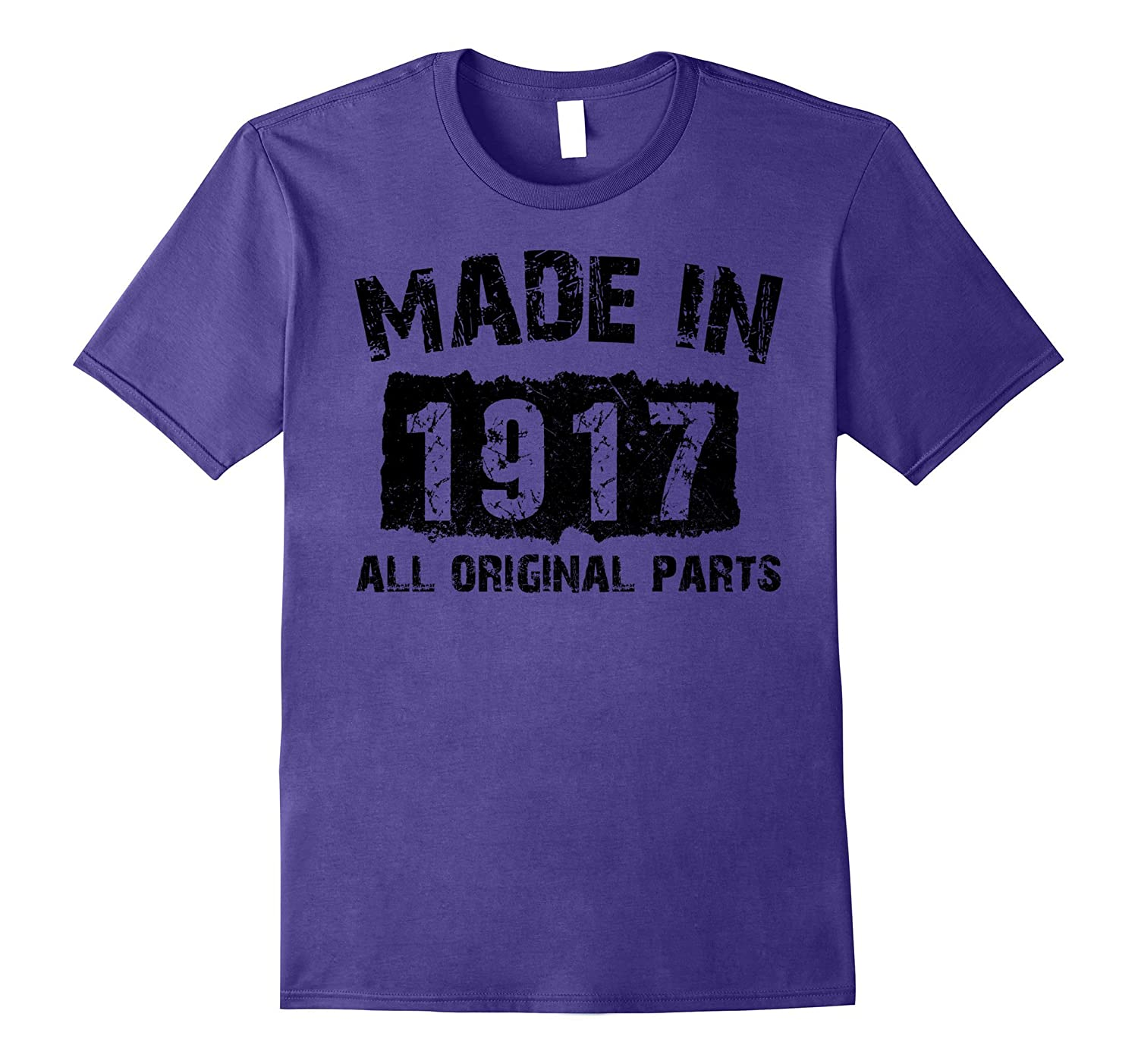 100th Birthday 100 Years Old 1917 T-Shirt-Vaci