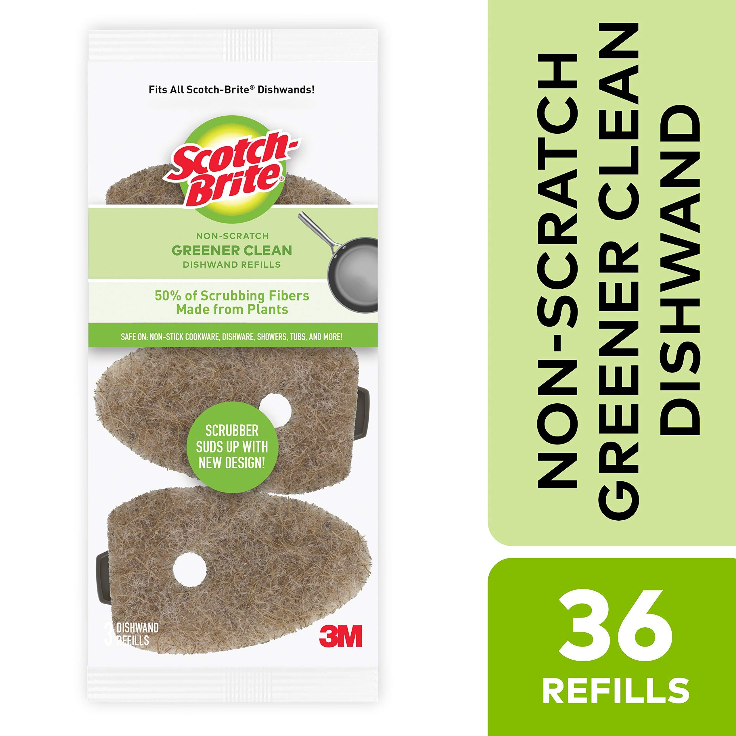 Scotch-Brite Greener Clean Dishwand Refills, 3-Refills/Pk, 12-Packs (36 Refills Total)