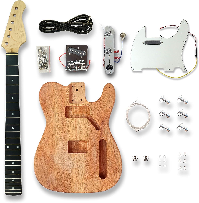 Kit de guitarra eléctrica estilo TL, madera de okoume, construye ...