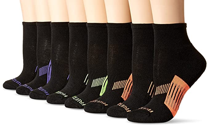 Fruit of the Loom womens standard Everyday Active Cushioned Crew Socks 8 Pair